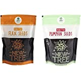 [Sponsored]New Tree Roasted Flax Seed,Roasted Pumpkin Seed (Combined Weight :- 300gm)