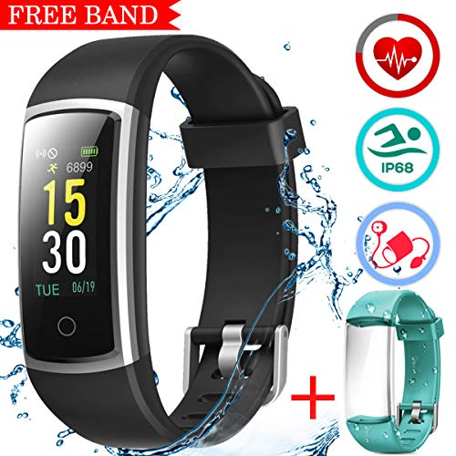 LATEC Orologio Fitness Tracker Android iOS Cardiofrequenzimetro Monitor per...