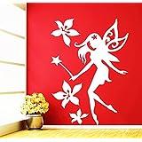 DECOR Kafe Home Decor Fairy Wall Sticker, Wall Sticker For Bedroom, Wall Art, Wall Poster (PVC Vinyl, 30 X 45 CM)