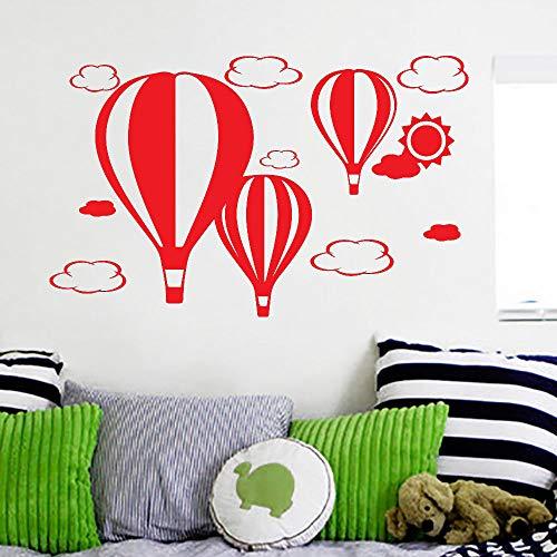 Papier Peint pour Salon de Bande Dessinée Mignon Ballons Air Nuages   Soleil Décoration Vinyle Stickers Muraux Affiche pour Chambre B 84 * 134 cm