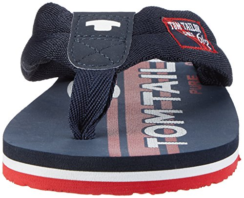 TOM TAILOR Herren 2781601 Zehentrenner Blau (navy-red)