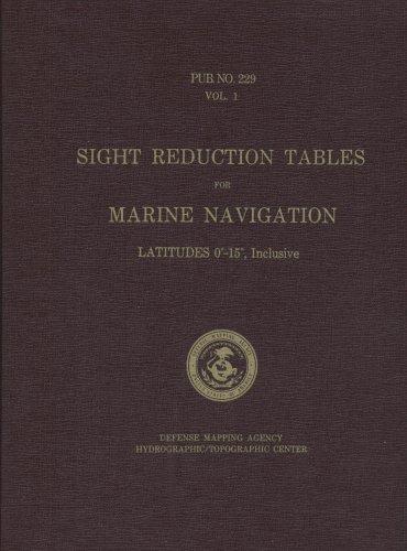 Reduktionstische für Marine-Navigation, Vol. 1: Breiten 0-15 Grad inklusive Volle Navigation
