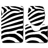 DZYZ 3 pezzi Piedistallo & WC Tappetino da bagno della copertura del sedile Set Set di flanella non slip , 001