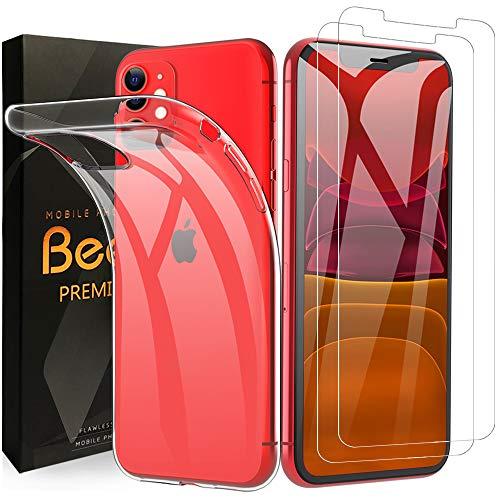 Beetop Kompatibel Mit iPhone 11 Hülle + 2 Panzerglas Set, Schutzhülle Schutzfolie Für Apple iPhone 11 6,1 Inch 2019