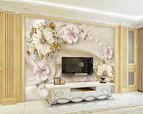 Benutzerdefinierte Tapete Wohnzimmer Schlafzimmer TV Sofa Hintergrund Wunderschöne europäische Schmuckkunst Hintergrund Wand 3d Tapete