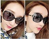 WYL Polarisierte Sonnenbrille weibliche UVschutzgläser runder Gesichtssonnenschutz-Sonnenbrillefluten-Sterngesicht,A,Sonnenbrille