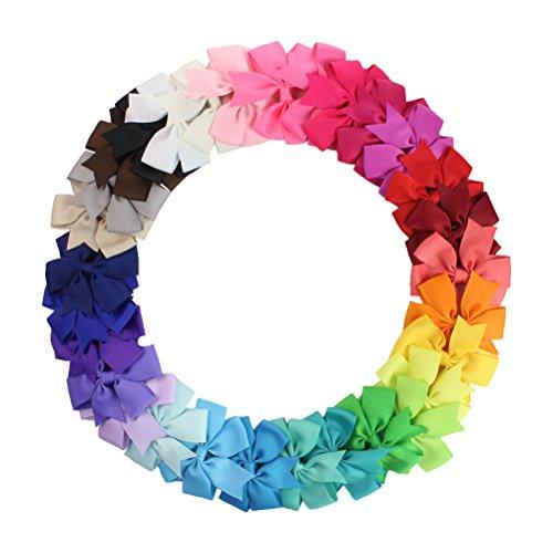 HABI 30 stk mehrfarbig Haarspange Haarklammer Fliege Schleife für Mädchen