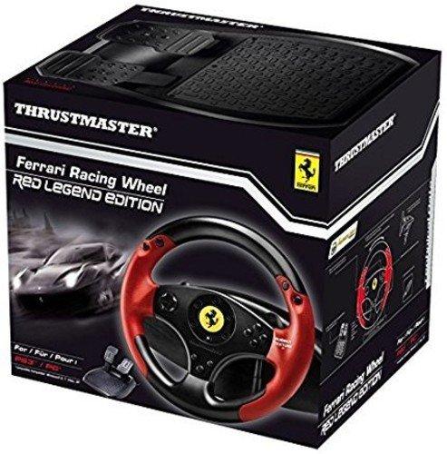 Thrustmaster Ferrari Racing Wheel Red Legend Edition (Lenkrad inkl. 2-Pedalset, PS3 / PC)