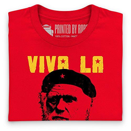 Darwin Viva La Evolucion T-Shirt, Herren Rot
