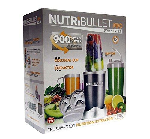 NutriBullet Pro 900W Serie Nutri Bullet 15Stück, mit Superfood Mischbatterie Blade Magic Bullet