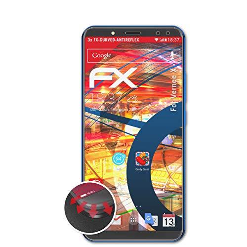 atFolix Schutzfolie passend für Vernee X Folie, entspiegelnde & Flexible FX Bildschirmschutzfolie (3X)