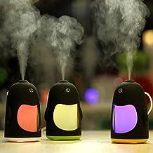 ILS - USB portatile Pinguino umidificatore purificatore mini LED luce di notte della lampada da tavolo