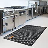 5' x 3' Industrial Large Heavy Duty Rubber Ring Mat Safety Floor Matting Kitchen (1)