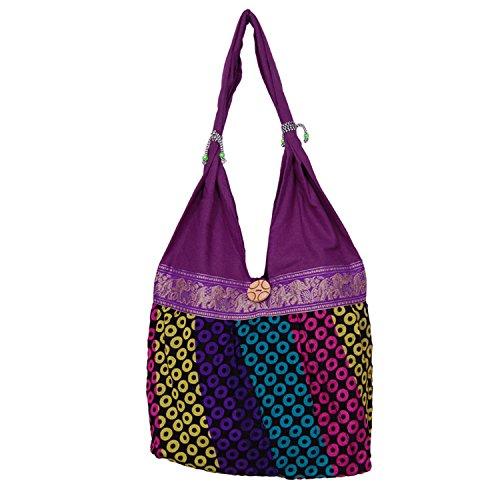 Womaniya Women's handbag (Purple) (Handicraft Jhola Bag)  available at amazon for Rs.149