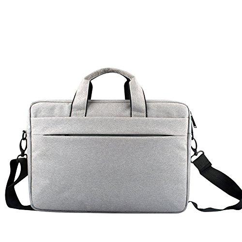 Laptoptasche Aktentaschen Umhängetasche Schultertasche Laptoptasche Notebooktasche Tragetasche Messenger Bag Reisetasche Notebook / MacBook / Ultrabook für 13.3-15.6 Zoll Laptop Grau