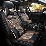 Housse de siège en cuir de luxe universelle for véhicules, voitures, VUS, airbags...