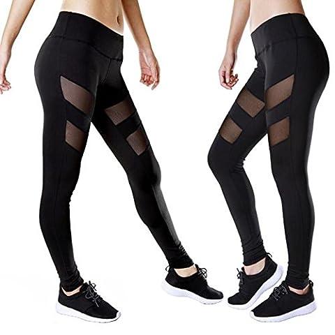 Femmes Pantalons de yoga actifs sucent auto-culture sueur Jambières de course respirante sport en perspective creux Collants , xl