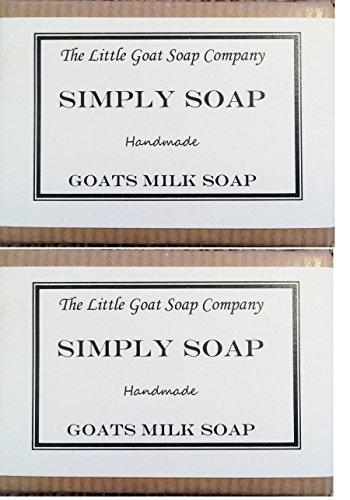 2 x Simply Goats Milk Soap. Unscented 100g. Sensitive Skin. Eczema, Psoriasis, Dermatitis. Dry Skin