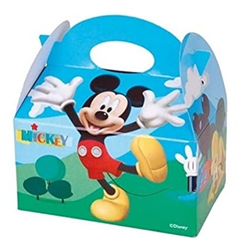 10 Themed Food Boxes ~ Picnic Carry Meal Box ~ Kids Birthday Party Bag Plate (Mickey Mouse)