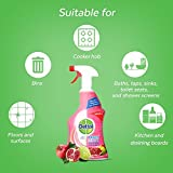 Dettol Clean and Fresh Multi-Purpose Cleaning Spray, Pomegranate & Lime Splash 1 Litre, Pack of 3