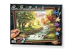 noris Spiele Schipper 9130 412 números de Color - La Trucha de Arroyo - 40x50 cm Importado de Alemania