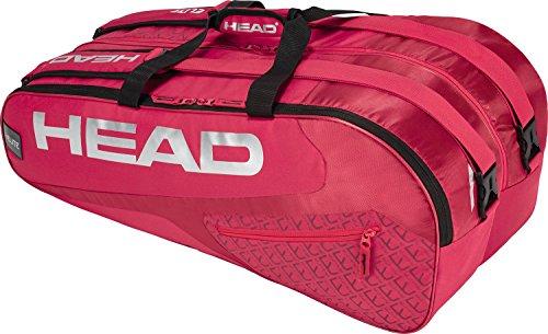HEAD Elite 9R Supercombi Tennisschläger Tasche, Unisex, Elite 9R Supercombi, Rot/Rot