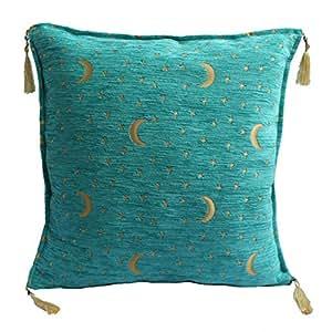 Z leyha kissenbezug kissenh lle sitzkissen kissen cushion cover orientalisch mond stern t rkis for Sitzkissen orientalisch