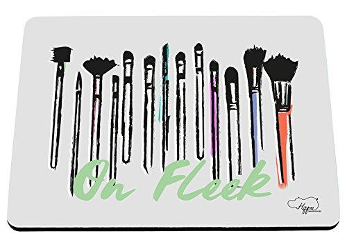 hippowarehouse auf FLEEK Make-up Pinsel bedruckt Mauspad Zubehör Schwarz Gummi Boden 240mm x 190mm x 60mm, grau, (Tutorial Make Glamour Up)