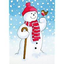"""Lucha contra el cáncer """"Macmillan Cancer Support Tarjetas navideñas–paquete de 8–muñeco de nieve de amigo"""