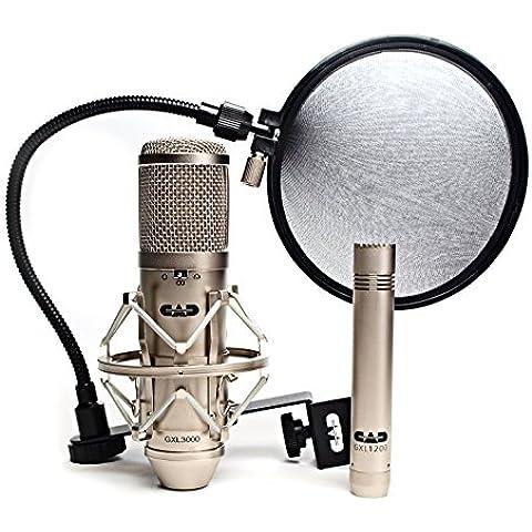 CAD Audio GXL3000SP - Set professionale da 3 pezzi, microfono a condensatore multi-pattern