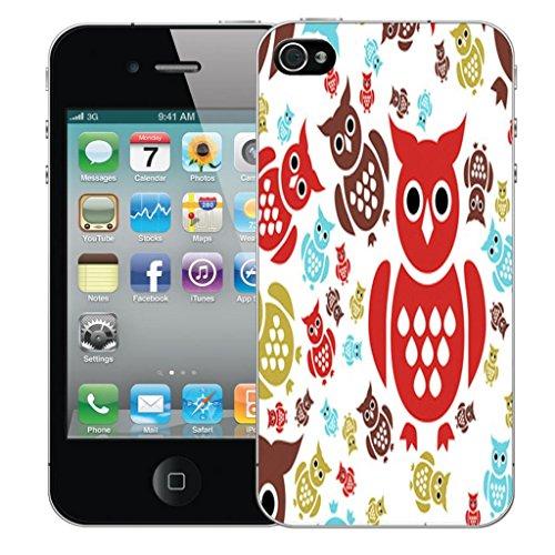Mobile Case Mate iPhone 5 clip on Dur Coque couverture case cover Pare-chocs - complex patterns Motif avec Stylet coloured owl