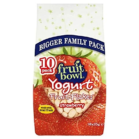 Fruit Bowl Yogurt Fruit Flakes Strawberry 10 x 25g