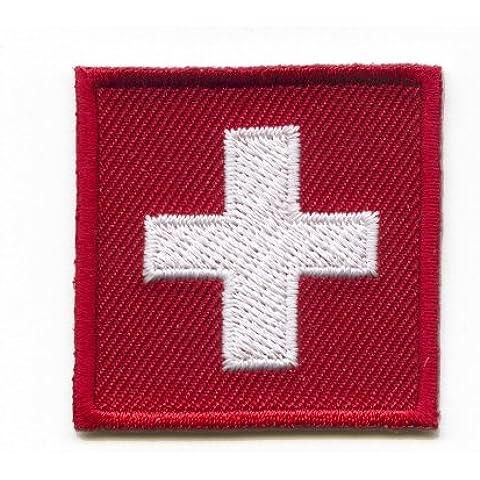Hegibaer - Parche, termoadhesivo, diseño de la bandeza suiza