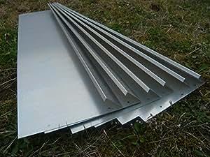 Schneckenzaun Metall feuerverzinkt 24 qm