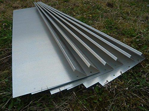 Schneckenzaun Metall für max. 20 qm (18 Bleche, 4 Ecken)