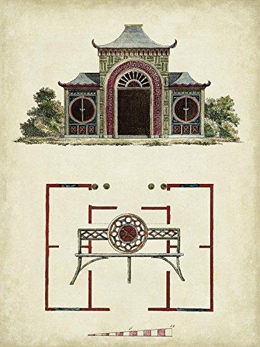 Artland Poster oder Leinwand-Bild fertig aufgespannt auf Keilrahmen mit Motiv Vision Studio Gartentore IV Architektur Architektonische Elemente Illustration Sepia D0EF