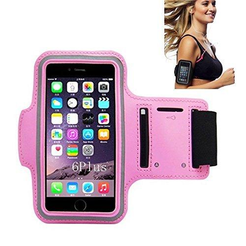 iPhone 66S Sportarmband, CANTOP Sportarmband Schutzhülle für iPhone 66S 55S iPod mit Schlüsseltasche, verstellbar, einfach Kopfhörer Anschluss, Best für Gym, Sport Fitness, Laufen, Training, Rose