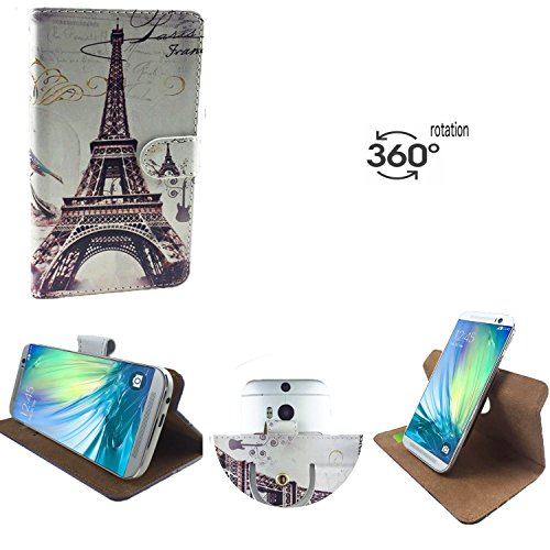Handy Schutz Hülle   für simvalley MOBILE SPX-34  360° Drehbare Funcktion   PU Leder   360° Nano S Paris 2