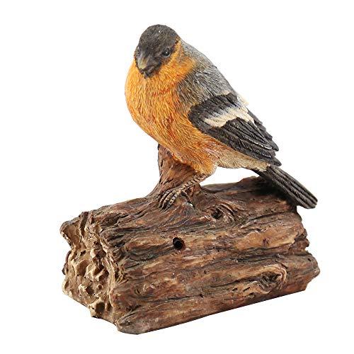 oamore Resina Verdadero Efecto Efecto pájaro Escultura Ornamente Decoración Jardín Animales pájaro Figura Estatua, D