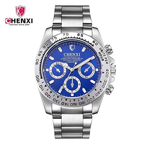 SJXIN Stilvolle Uhr CHENXI Morgenlicht Uhr Stahlgürtel Herrenuhr wasserdicht leuchtende Uhr Sportuhr 086A Modeuhren (Color : 3)