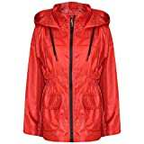 A2Z 4 Kids® Kinder Mädchen Jungen Regenmäntel Jacken Rot Leichte - Raincoat Jacket 448 Red_11-12