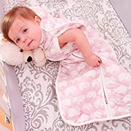 Woombie Winter Cabrio Baby Cocoon Swaddle Neugeborene 0–3months-mossy grün Elefanten