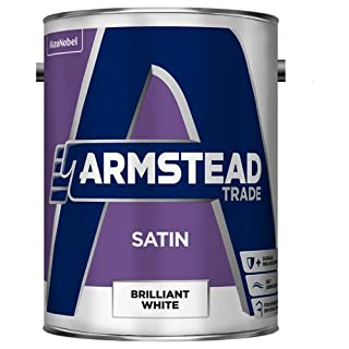Armstead Trade Satin Finish Paint Brilliant White 5 Litres