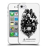 Head Case Designs Offizielle Assassin's Creed Tinten Fleck Kunstwerk Erbschaft Charakter Soft Gel Hülle für iPhone 4 / iPhone 4S