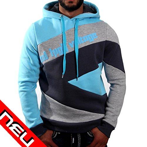 R-Neal -  Felpa  - Con cappuccio  - Maniche lunghe  - Uomo petrol/grau/anthrazit