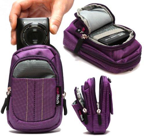 Navitech housse étui violet pour appareil photo numérique Cyber-shot DSC-WX350 / Cyber-shot DSC-HX60V