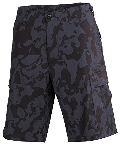 US BDU Bermuda, Rip Stop Night-Camo