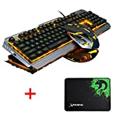 Lexonelec® Gaming tastiera e mouse set Combo cablata V1 LED retroilluminato Multimedia USB...