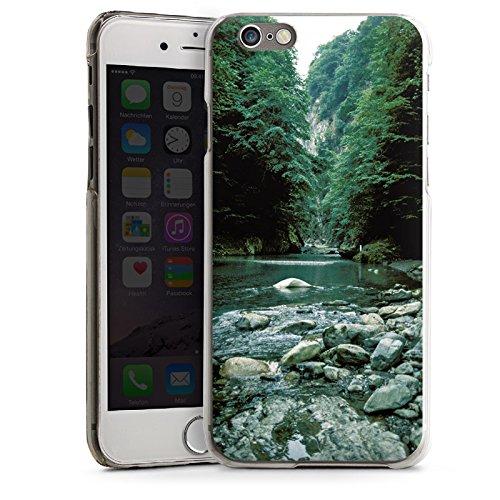 Apple iPhone 4 Housse Étui Silicone Coque Protection Fleuve Forêt Cours du fleuve CasDur transparent