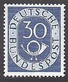 Goldhahn BRD Nr. 132 postfrisch ** geprüft 30 Pfennig Posthorn Briefmarken für Sammler